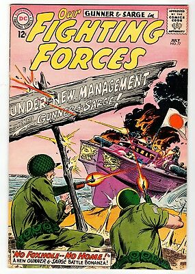 DC - OUR FIGHTING FORCES #77 - Kubert Cover - VG July 1963 Vintage Comic