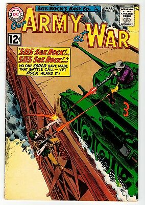 DC - OUR ARMY AT WAR #116 - Kubert Cover & Art - G Mar 1962 Vintage Comic