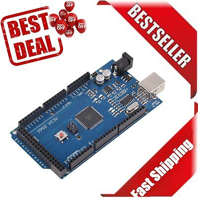 Best Mega R3 REV3 ATmega2560-16AU Board Free USB Cable Compatible For Arduino DS