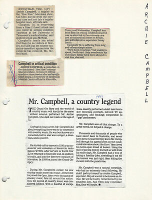 Archie Campbell + Glen Campbell Photos & Clippings Grand Ole Opry