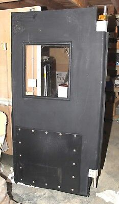 Chase Commercial traffic plastic impact swing door restaurant retail 40x80""