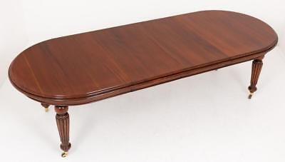 Victorian Dining Table - Extending Mahogany D End Tables
