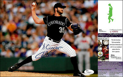 Chad Bettis K Cancer Autographed Signed 8X10 Photo Picture Rockies Jsa Coa