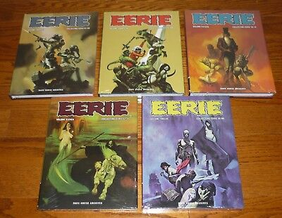 5 Eerie Archives Volumes 11,12,13,14,15 SEALED, Warren, Dark Horse, hardcovers