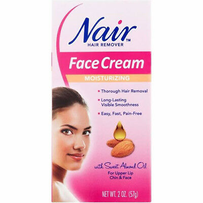 Nair Hair Remover Moisturizing Face Cream 2 Oz. Box