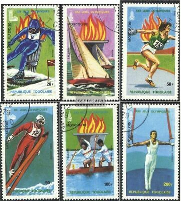 Togo 1380A-1385A (complete issue) used 1979 Olympics Games 1980