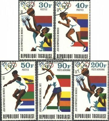 Togo 930A-934A (complete issue) used 1972 olympic. Summer,Munic