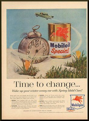 Vintage 1957 ad for Mobiloil Special, Mobilgas. Sonoco Mobil Oil Co.