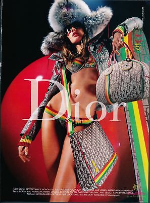 Print Ad~2004~Christian Dior~Sexy~Bikini~Snowboard~Bags~Advertisement~H400