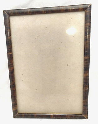 ANTIQUE WOODEN PICTURE Wall Frame Glass Faux Tiger Wood Maple 11\