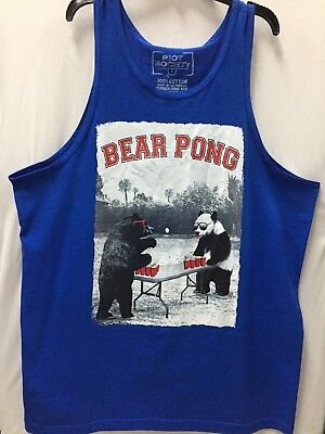 ac1f4842e11 RIOT SOCIETY BEAR PONG Bears In Outer Space Black SS T Shirt Size M ...