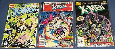 3 Issues Of X-Men Annual #12 VG, 13 VF & 15 NM 1988-1991
