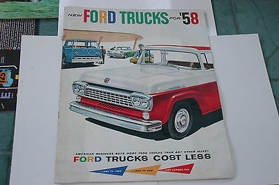 1958 Ford Trucks Prestige  Sales Brochure. 'full Line'