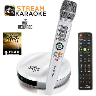 Magic Sing E2 WiFi Wireless Karaoke Mic 12K POP + 1 Year 220K International song