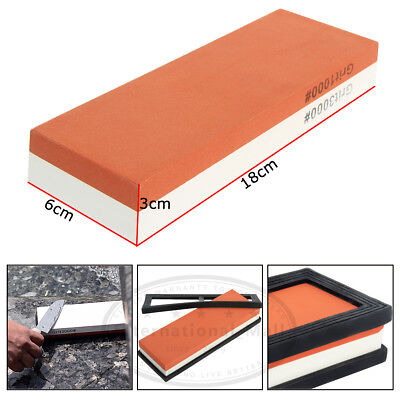 Japanese Whetstone Knife Grit 3000#8000 Sharpener Sharpening Water Stone Stand