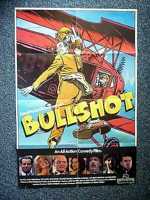 BULLSHOT Biggles Original 1983 Australian One Sheet Movie Poster Billy Connolly