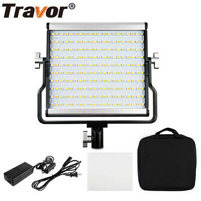 Travor Dimmable Bi-color 200LED Video Light Panel Camera Lights with Carry Bag