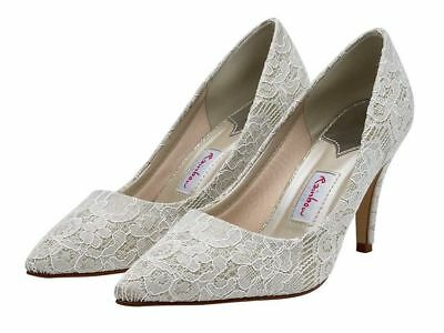 Rainbow Club Couture  Brautschuhe Style Giverney Spitze Creme Neu Gr 39