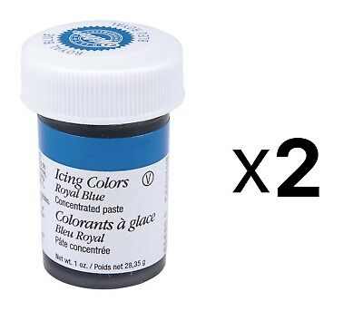 Wilton Royal Blue Food Coloring Concentrated Paste 1oz Icing/Cakes/Dough (2Pack)