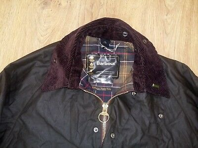 Barbour Classic Bedale mens Wax dark olive green jacket size C40/102CM (M)