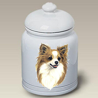 Ceramic Treat Cookie Jar - Longhaired Chihuahua (LP) 45145