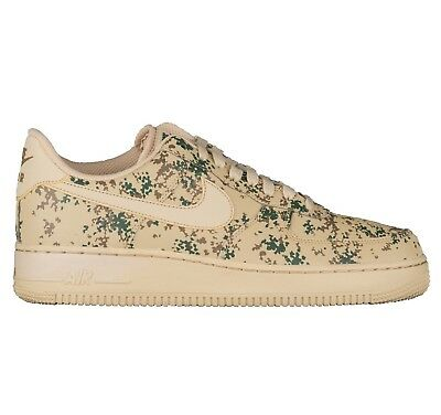 Nike Air Force 1 '07 LV8 Camo Mens 823511-700 Golden Beige Low Shoes Size 11