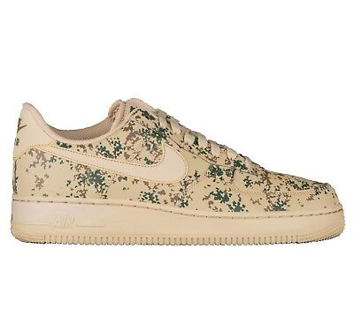 Nike Air Force 1 '07 LV8 Camo Mens 823511-700 Golden Beige Low Shoes Size 11.5