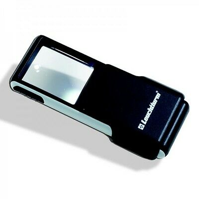 SLIDE pocket magnifier with 3x magnification and LED