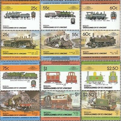 St. Vincent-Bequia 126-137 Couples mint never hinged mnh 1985 LocoThematics
