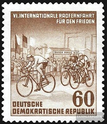 DDR 357 unmounted mint / never hinged 1953 International Radfernfahrt for the