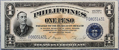 Philippines One Peso P-94 Victory 1944 xf-AU