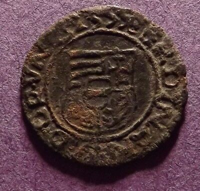 1555 Hungary Silver Denar Colonial Coin - Mary & Baby Jesus - Early Dated
