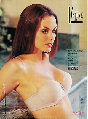 Print Ad~2001~Felina Lingeries~Strapless Demi Bra~Advertisement~H500