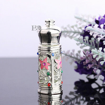 Handmade Vintage Mini Crystal Metal Perfume Bottle Empty Refillable Lady Gift