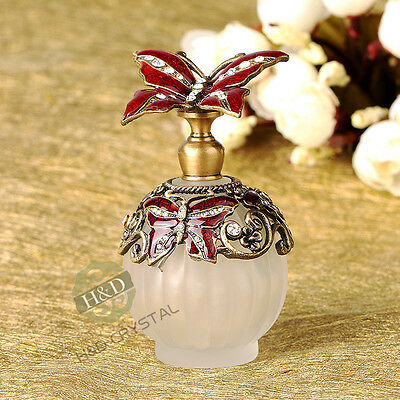 Diamond Cut Antique & Vintage Perfume Bottle with Glass & Metal for Women Gifts