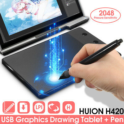 huion digital graphics drawing tablet paiting signature pad pen for