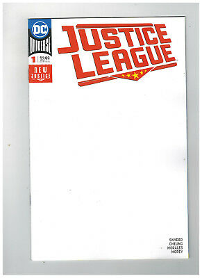 JUSTICE LEAGUE #1  1st Printing - Blank Variant Cover           / 2018 DC Comics