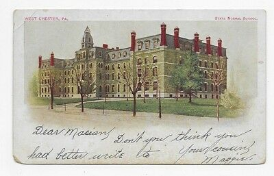 1904 WEST CHESTER PENNSYLVANIA State Normal School Post Card #1627