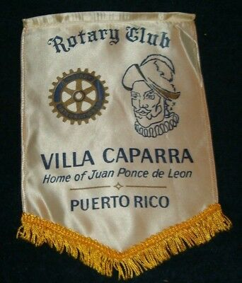 VILLA CAPARRA PUERTO RICO   Rotary International Club Wall Banner Flag