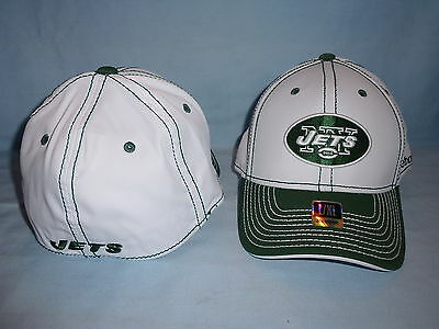 cb4ef8bfd6a New York NY JETS Reebok NFL FitMax CAP HAT size Small Medium NWT white