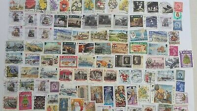 100 Different Isle of Man Stamp Collection