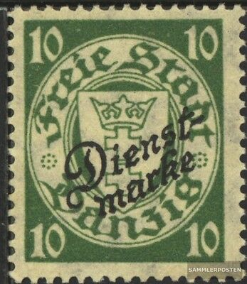 Gdansk D42a tested fine used / cancelled 1924 service mark