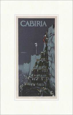 Poster for the film Cabiria Luigi Caldanzano 1914 Kunstdruck Plakatwelt 982