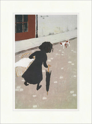 The little washerwoman Wäscherin Pierre Bonnard 1896 Kunstdruck Plakatwelt 922