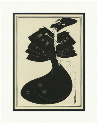 The Black Cape taken from Salome Aubrey Beardsley 1907 Kunstdruck Plakatwelt 935