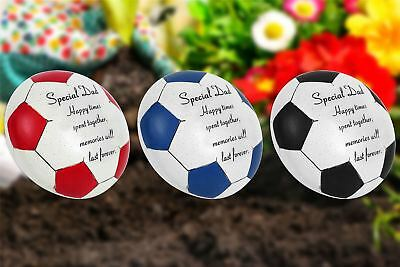 Special Dad Football Memorial Plaque Grave Stone Ornament Father 3 Colours