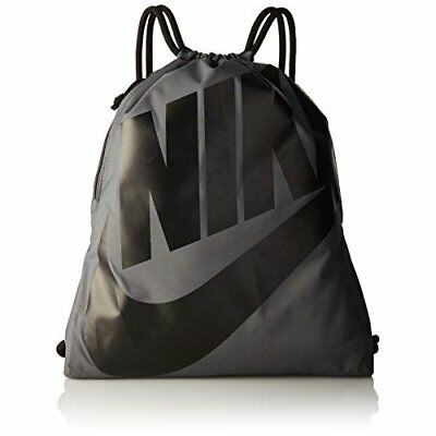 Nike Men's Heritage Gym Sack, Dark Grey/Black/Black, 43 x 33 cm