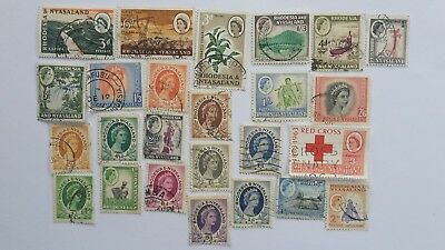50 Different Rhodesia/Nyasaland Stamp Collection