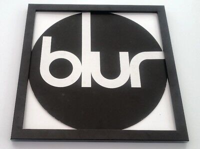 BLUR 'logo' FRAMED ORIGINAL SHOP PROMO DISPLAY