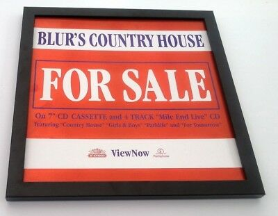 BLUR Country House FRAMED ORIGINAL SHOP PROMO DISPLAY